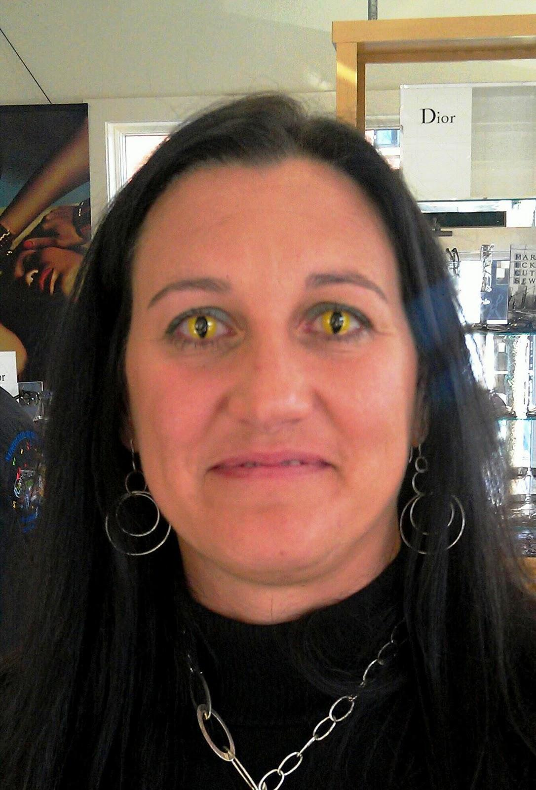 cat eye contact lenses Yellow Cat Eyes Contacts